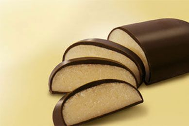 Typical chocolate covered Lübecker Marzipan