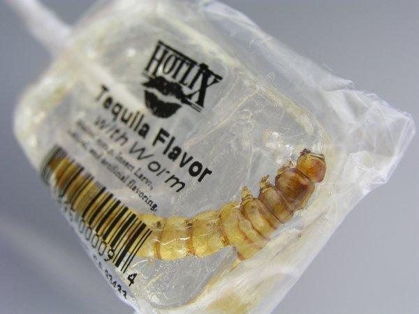 تصویر از سایت food-info.net- مصرف لاروحشرات در آبنبات